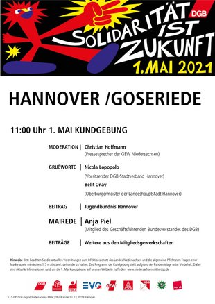 1. Mai 2021 in Hannover