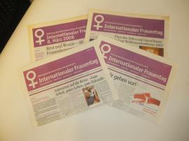 Zeitung Intern. Frauentag