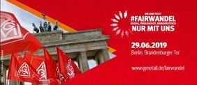 Brandenburger Tor mit Text #FairWandel