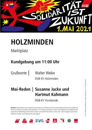 1. Mai 2021 in Holzminden