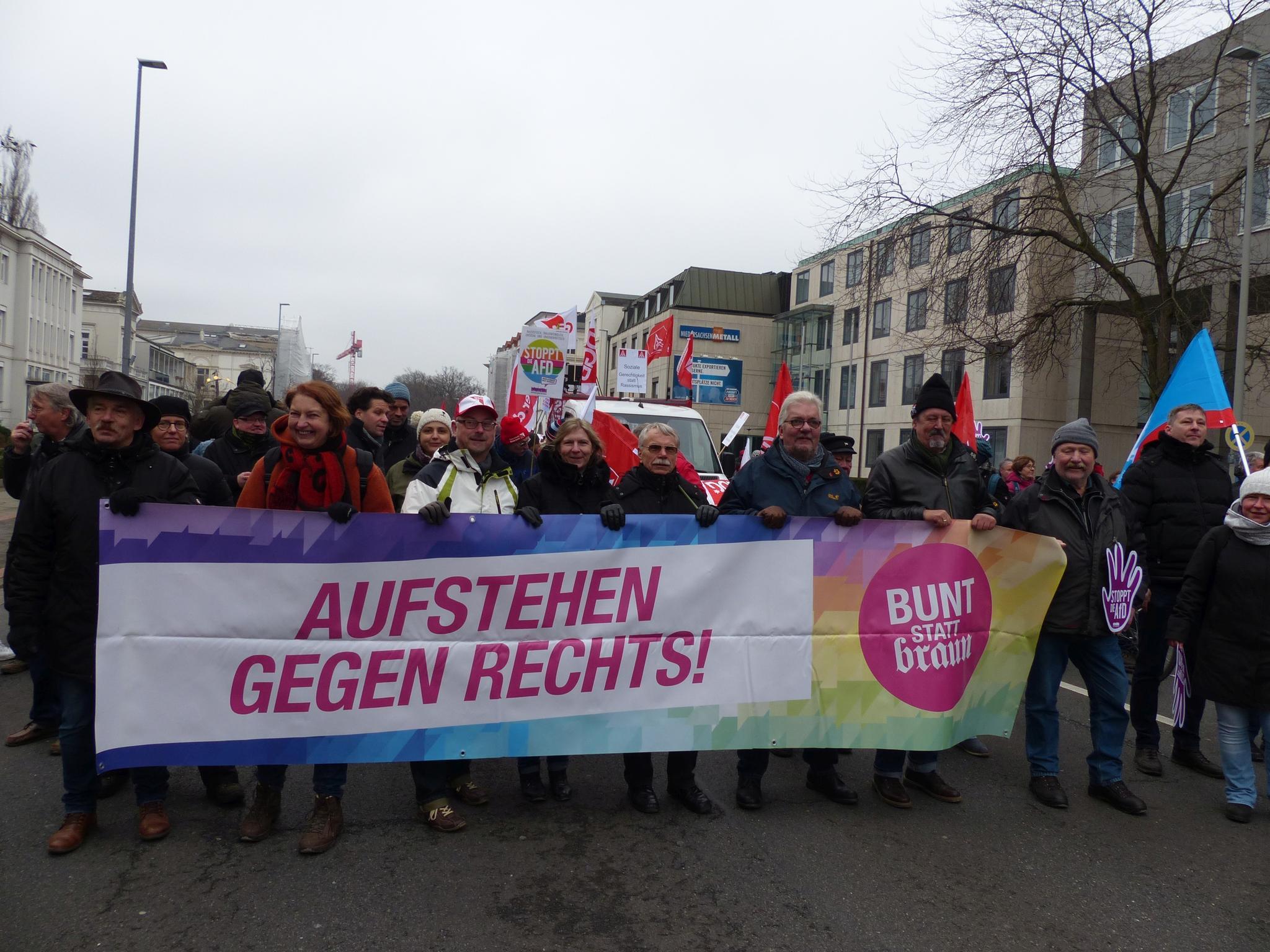 Demonstration gegen AfD-Parteitag in Hannover