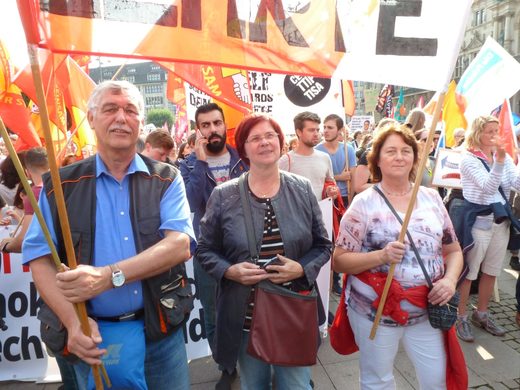 Demo gegen CETA, TTIP & Co in Hamburg