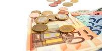 Geld und Münzen